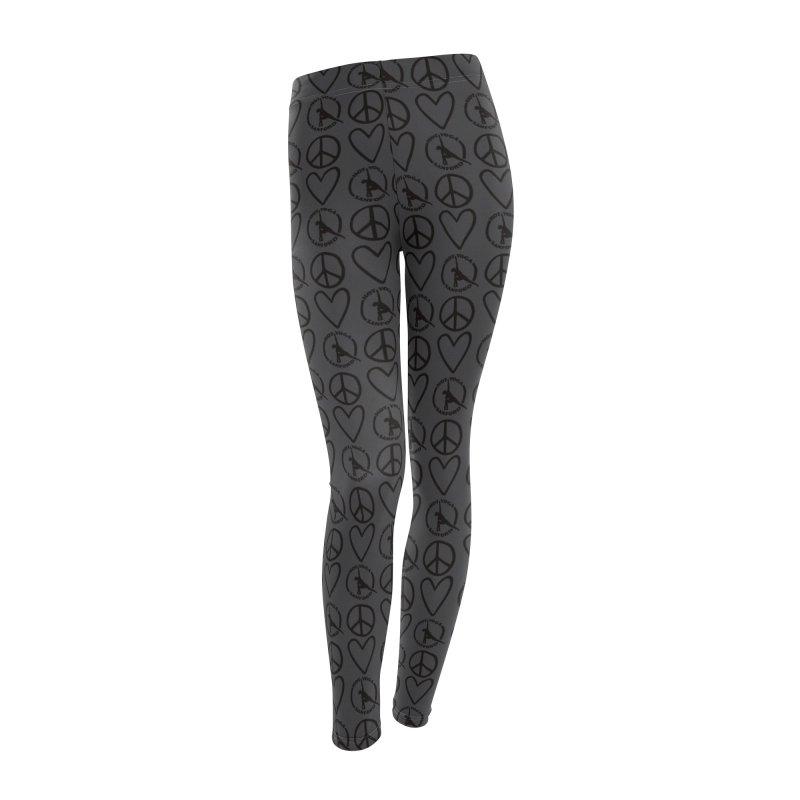 Peace, Love, Hot Yoga Sanford Leggings (Grey) Women's Bottoms by Hot Yoga Sanford's Storefront