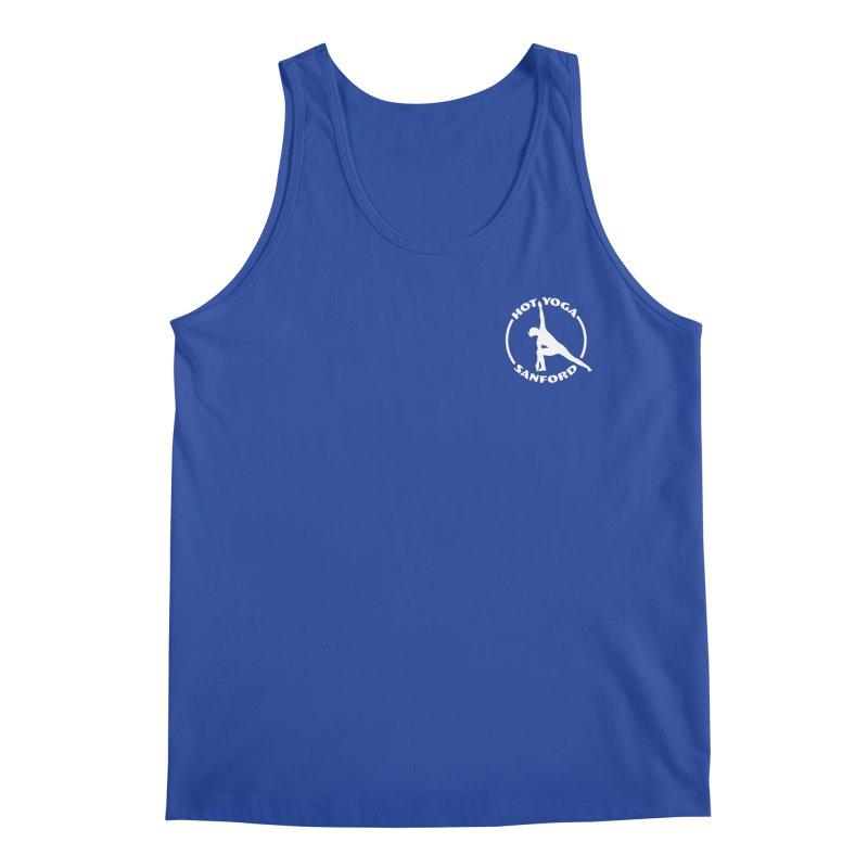 White Logo Small Men's Tank by Hot Yoga Sanford's Storefront