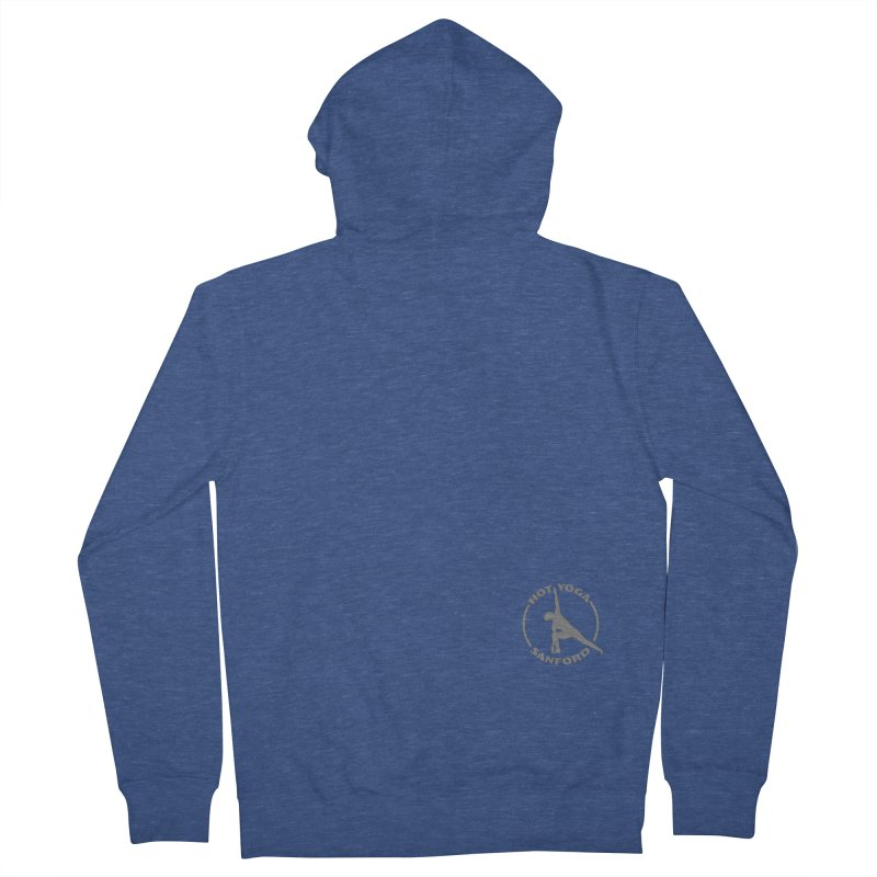 Gray Logo Small Low Men's Zip-Up Hoody by Hot Yoga Sanford's Storefront