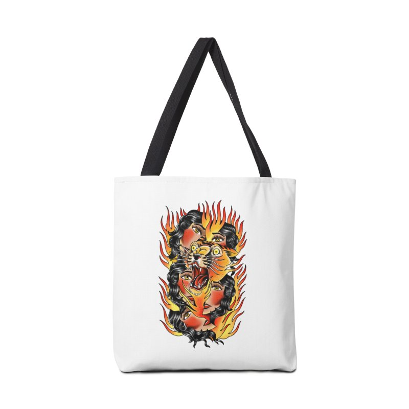 If You Rile A Tiger Accessories Bag by Houndstooth