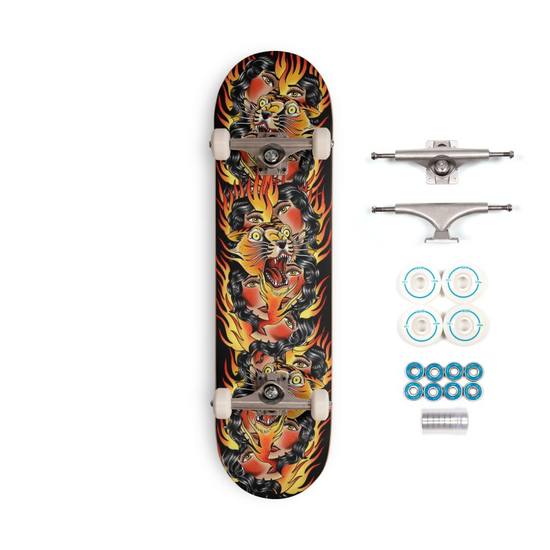 If You Rile A Tiger Accessories Skateboard by Houndstooth