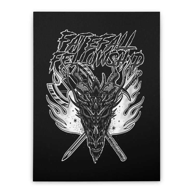 FATEFALL Home Stretched Canvas by Houndstooth