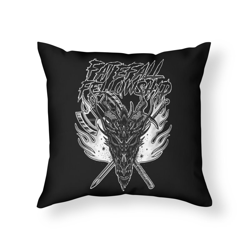 FATEFALL Home Throw Pillow by Houndstooth
