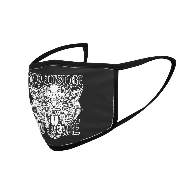 No Justice No Peace Accessories Face Mask by Houndstooth