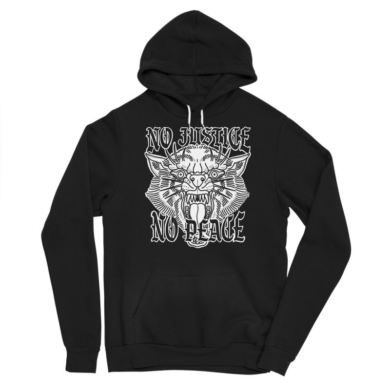 No Justice No Peace Men's Pullover Hoody by Houndstooth