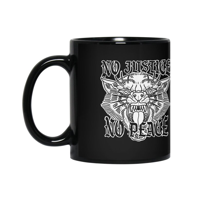 No Justice No Peace Accessories Mug by Houndstooth