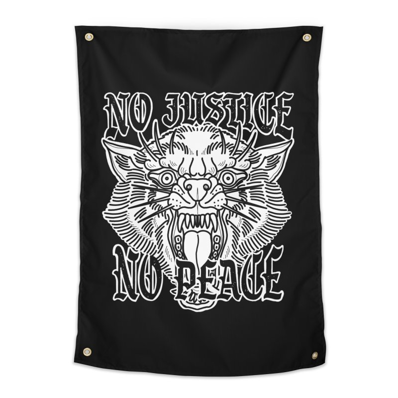 No Justice No Peace Home Tapestry by Houndstooth