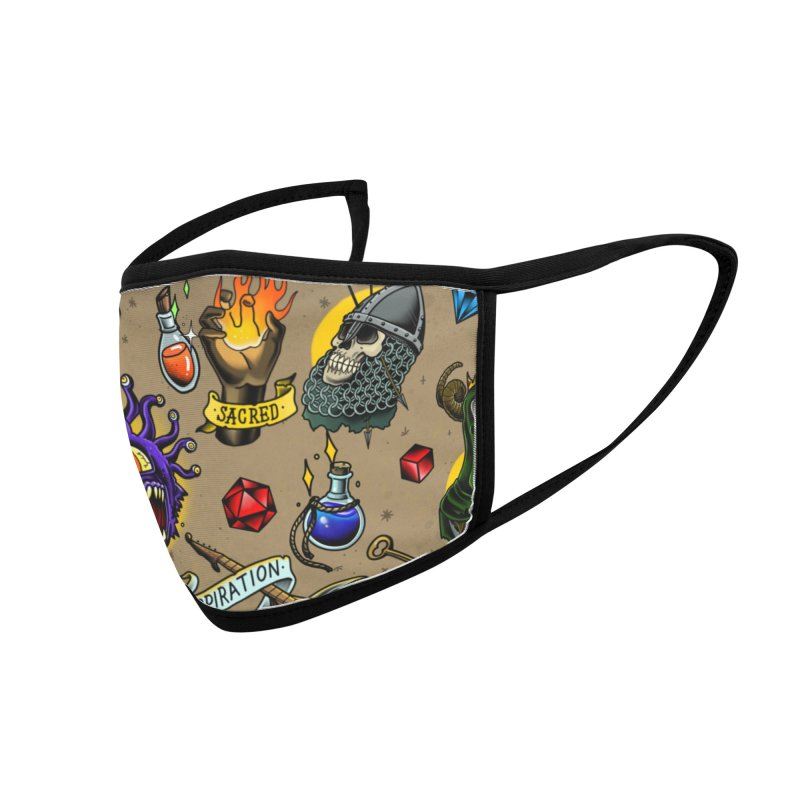 D&D Flash Mask Accessories Face Mask by Houndstooth