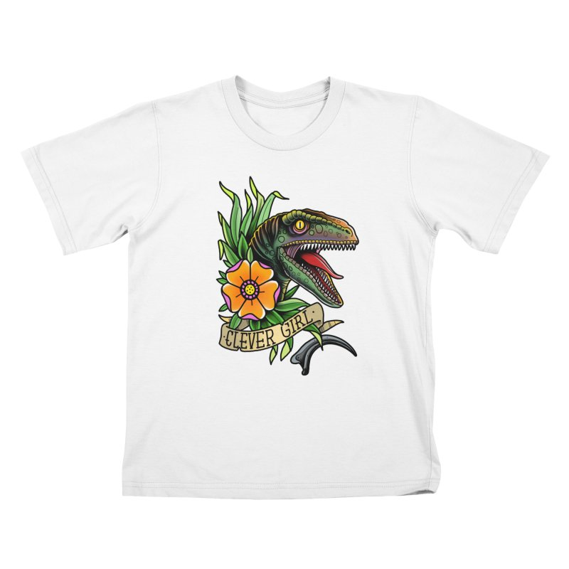 Clever Girl Kids T-Shirt by Houndstooth