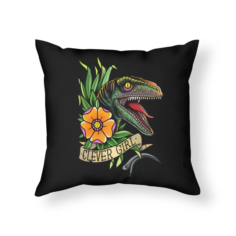 Clever Girl Home Throw Pillow by Houndstooth