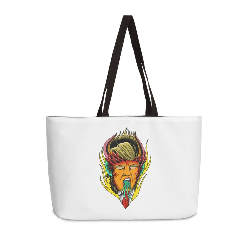 Orange Diablo Accessories Bag by Houndstooth