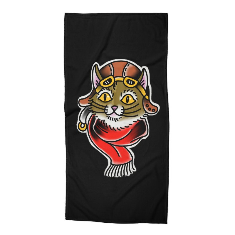 Furry Pilot Accessories Beach Towel by Houndstooth