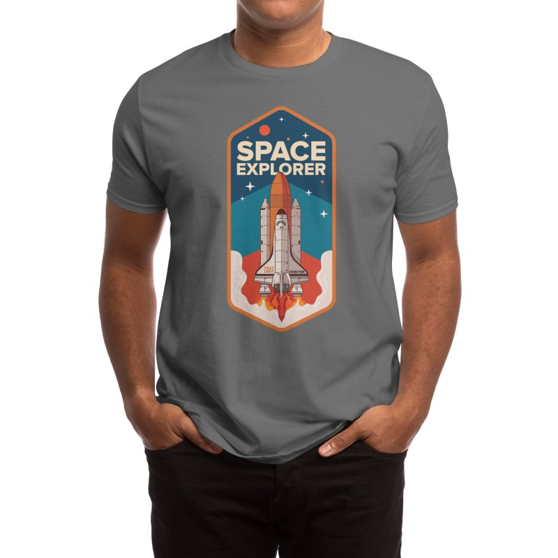 Space Explorer Men's T-Shirt by HowlerSupply's Artist Shop