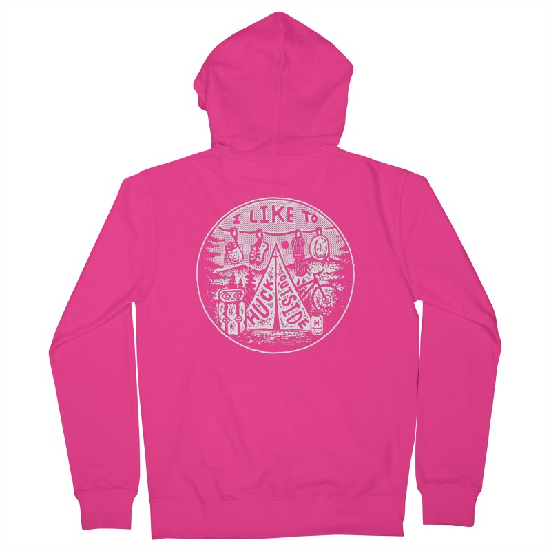 I like to Huck Outside Men's French Terry Zip-Up Hoody by Huck Adventures Swag