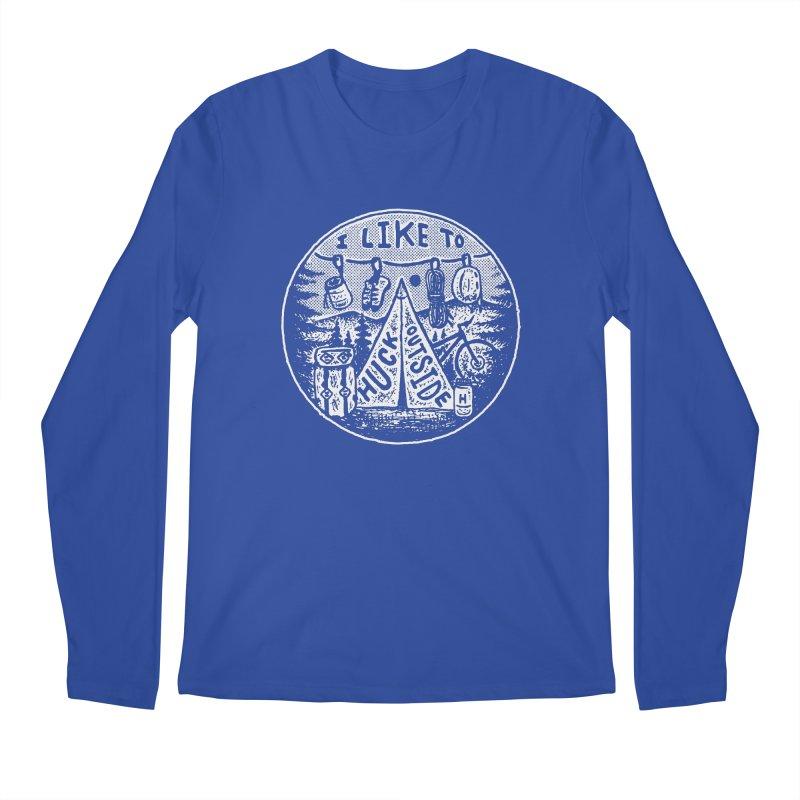 I like to Huck Outside Men's Regular Longsleeve T-Shirt by Huck Adventures Swag