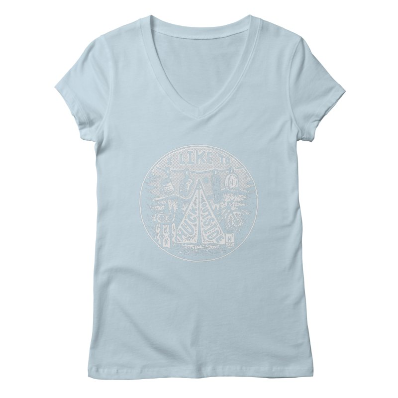 I like to Huck Outside Women's V-Neck by Huck Adventures Swag