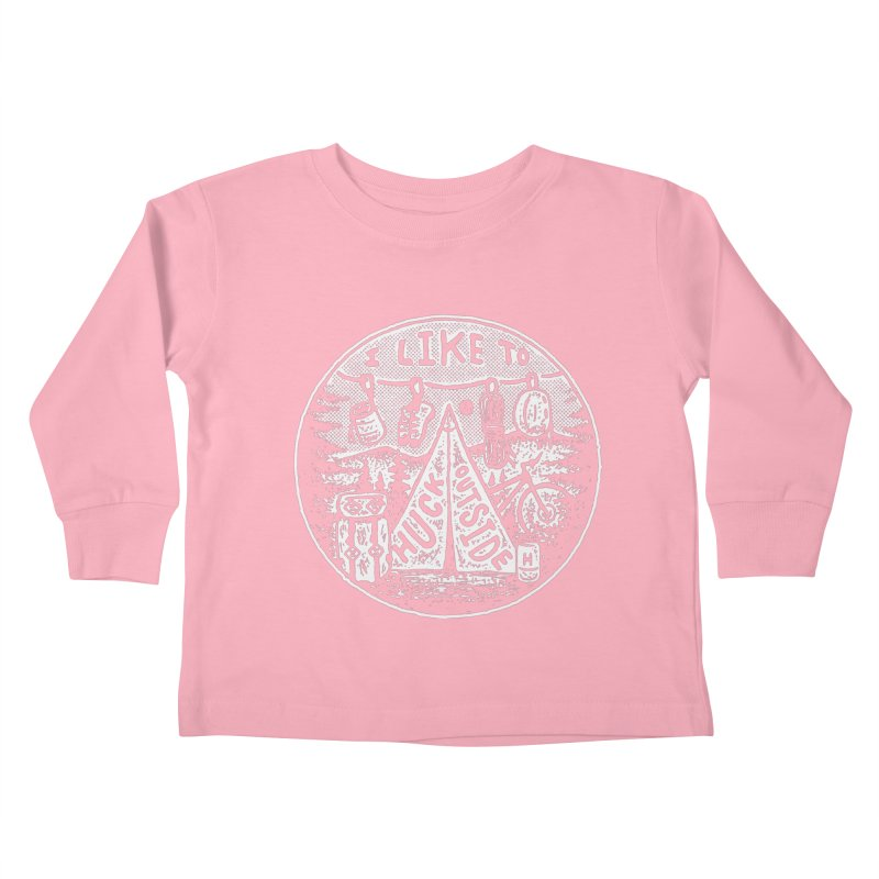 I like to Huck Outside Kids Toddler Longsleeve T-Shirt by Huck Adventures Swag
