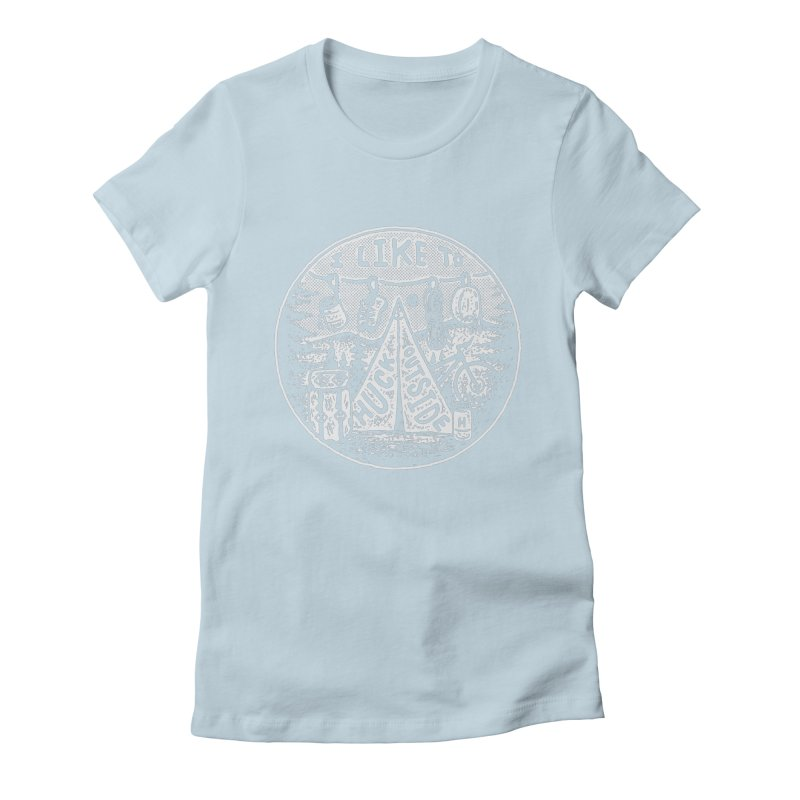 I like to Huck Outside Women's Fitted T-Shirt by Huck Adventures Swag