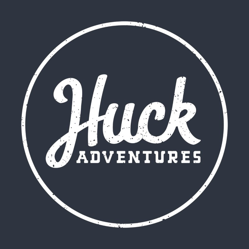 Classic Huck Adventures Logo White Men's Zip-Up Hoody by Huck Adventures Swag