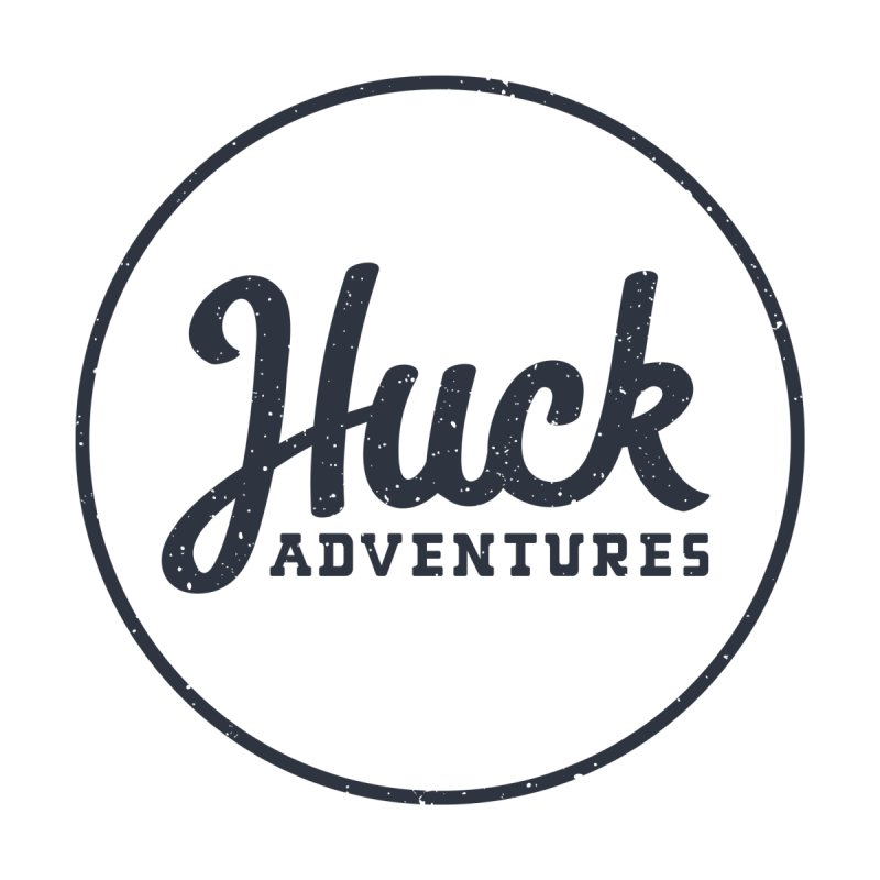 Huck Adventure - Dark Men's Zip-Up Hoody by Huck Adventures Swag