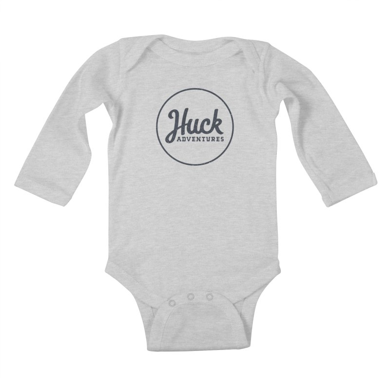Huck Adventure - Dark Kids Baby Longsleeve Bodysuit by Huck Adventures Swag