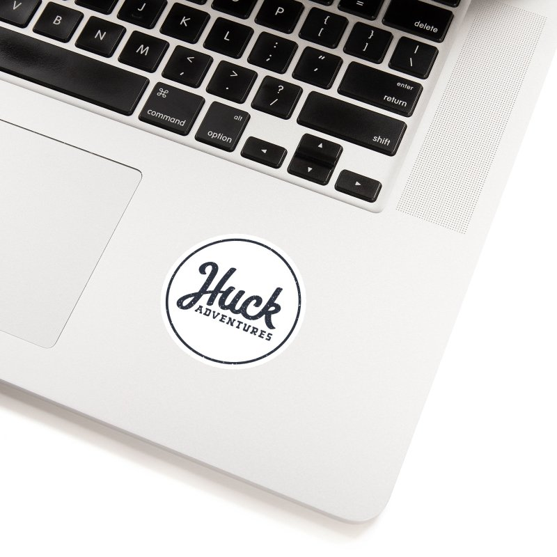 Huck Adventure - Dark Accessories Sticker by Huck Adventures Swag