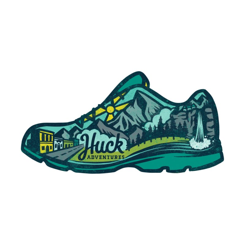 Colorado Trail Running by Huck Adventures Men's T-Shirt by Huck Adventures Swag