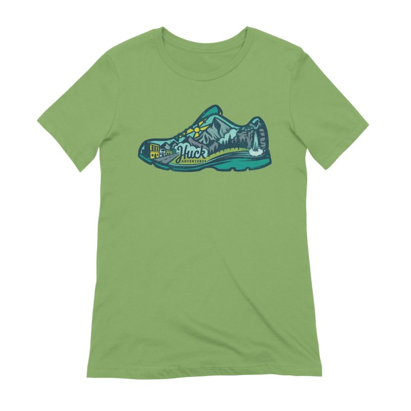 Colorado Trail Running by Huck Adventures Women's Extra Soft T-Shirt by Huck Adventures Swag
