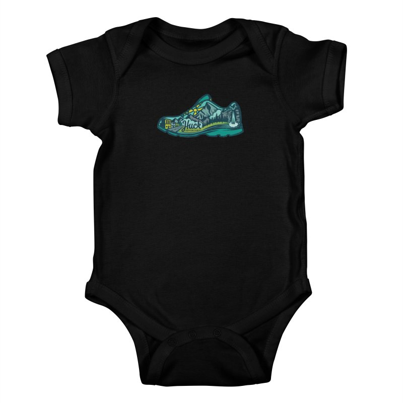 Colorado Trail Running by Huck Adventures Kids Baby Bodysuit by Huck Adventures Swag