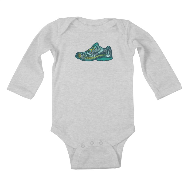 Colorado Trail Running by Huck Adventures Kids Baby Longsleeve Bodysuit by Huck Adventures Swag