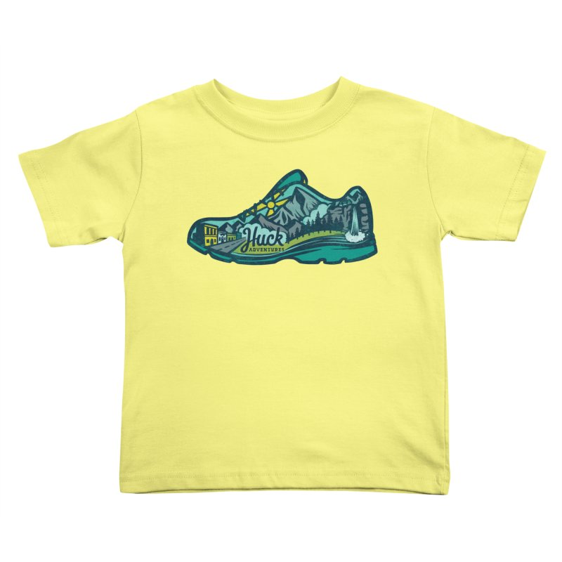 Colorado Trail Running by Huck Adventures Kids Toddler T-Shirt by Huck Adventures Swag