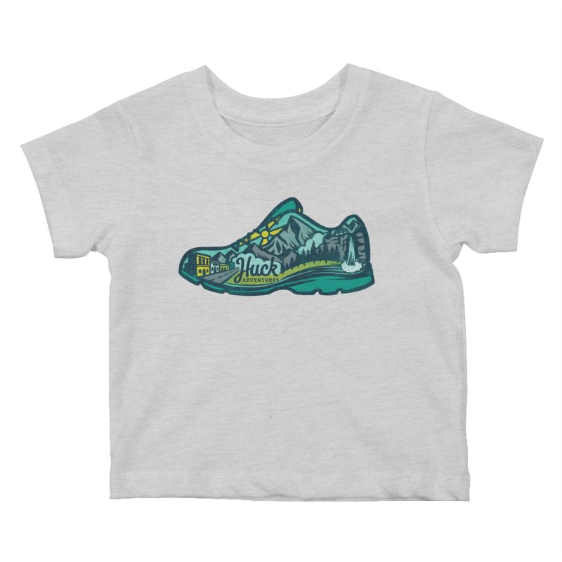 Colorado Trail Running by Huck Adventures Kids Baby T-Shirt by Huck Adventures Swag