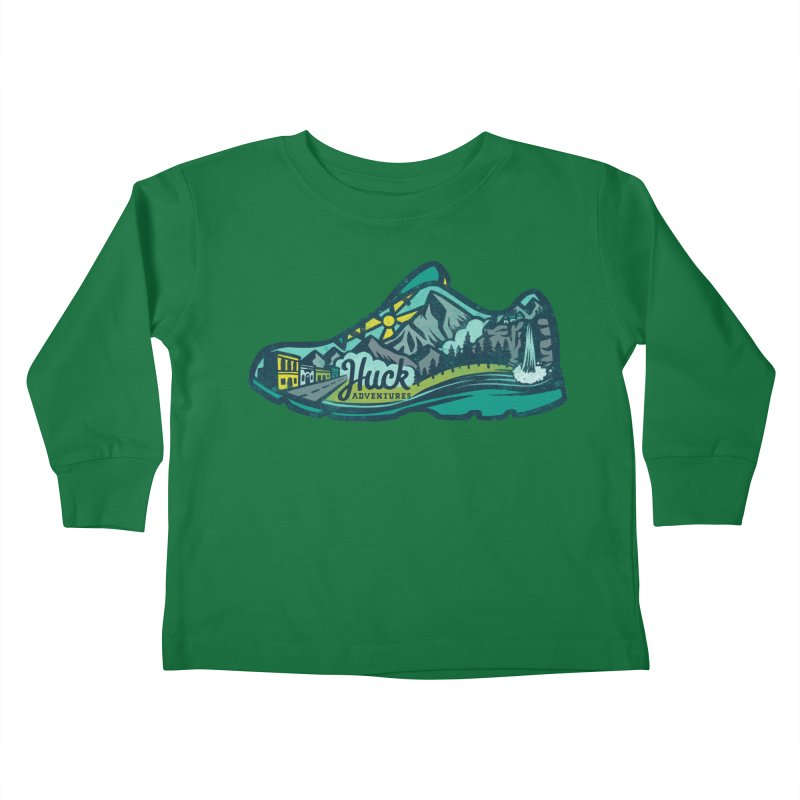 Colorado Trail Running by Huck Adventures Kids Toddler Longsleeve T-Shirt by Huck Adventures Swag