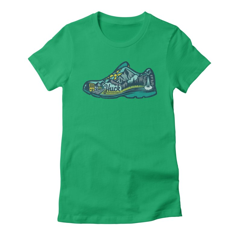 Colorado Trail Running by Huck Adventures Women's Fitted T-Shirt by Huck Adventures Swag