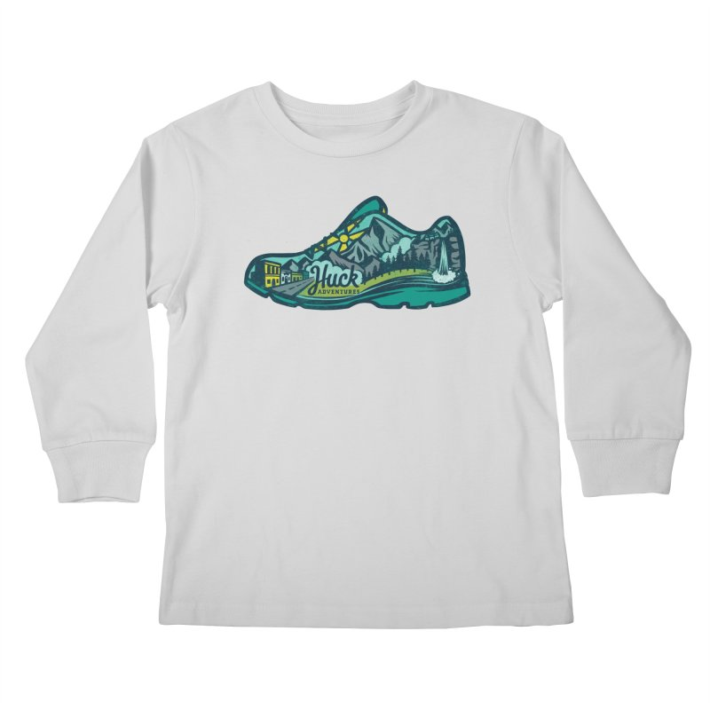 Colorado Trail Running by Huck Adventures Kids Longsleeve T-Shirt by Huck Adventures Swag