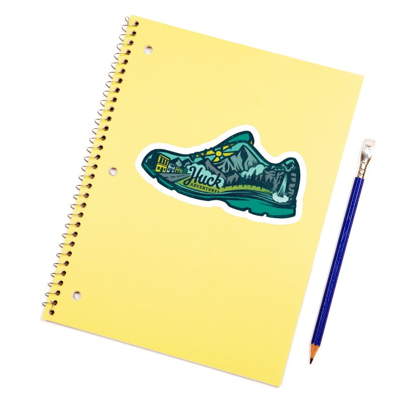 Colorado Trail Running by Huck Adventures Accessories Sticker by Huck Adventures Swag