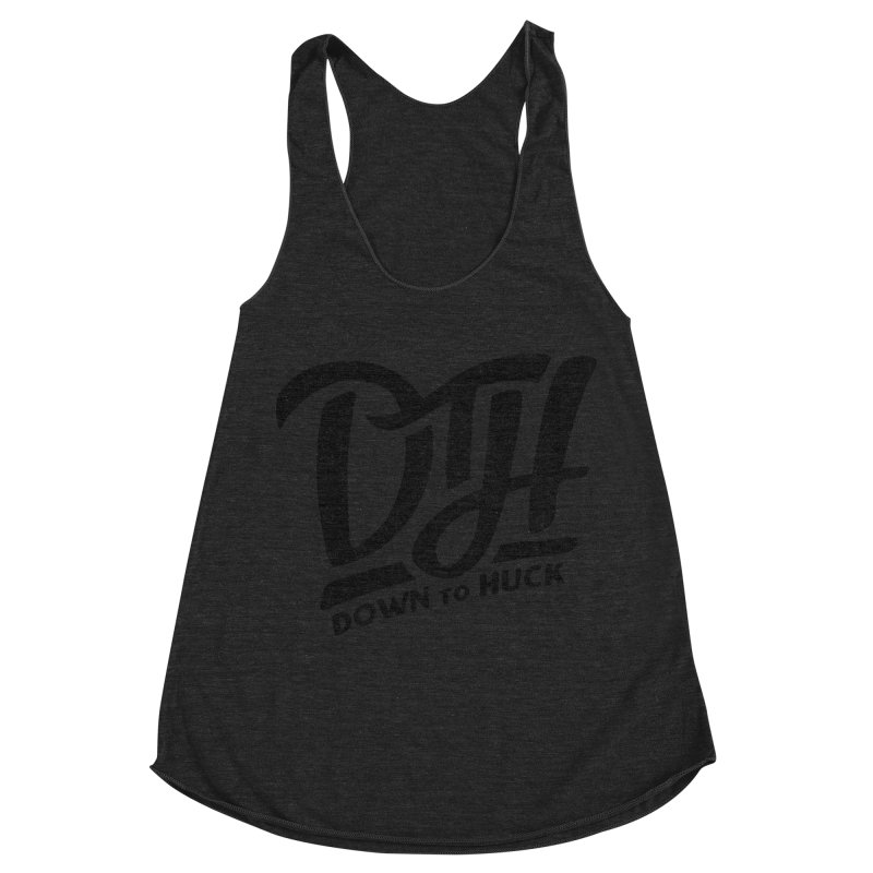 DTH | Down to Huck Women's Racerback Triblend Tank by Huck Adventures Swag