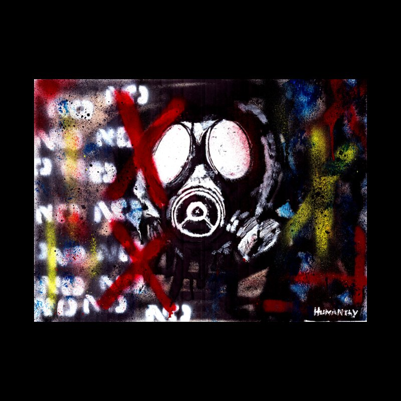 Mask Up Home Mounted Acrylic Print by The Humanity In Art Shop
