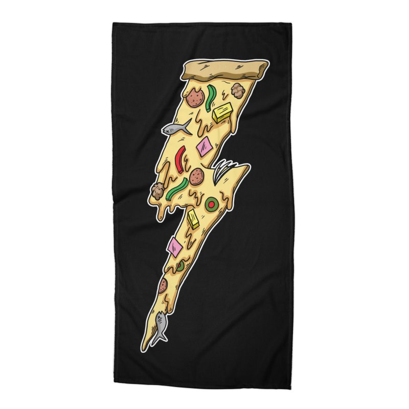 Pizza Bolt!  Accessories Beach Towel by Humor Tees