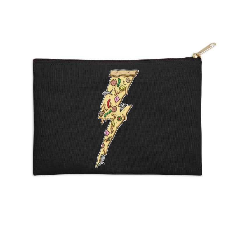 Pizza Bolt!  Accessories Zip Pouch by Humor Tees