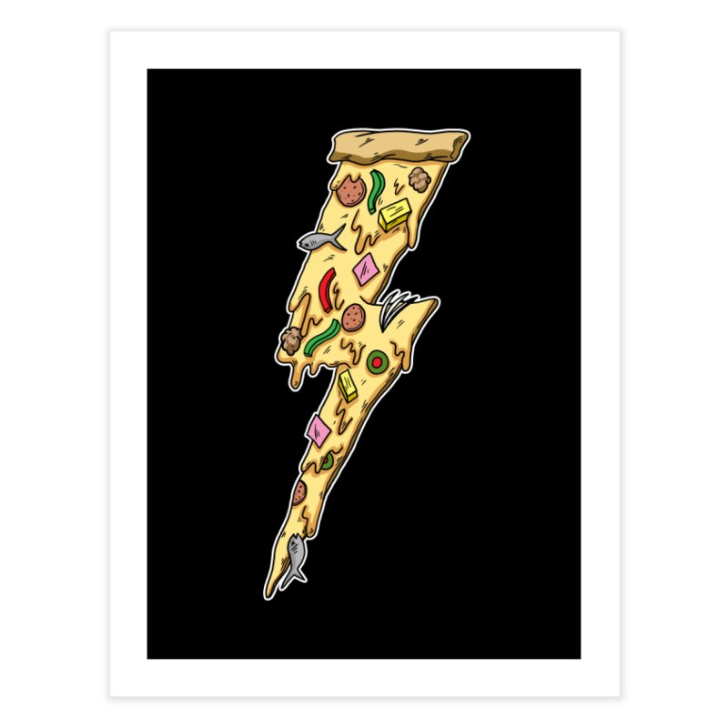 Pizza Bolt!  Home Fine Art Print by Humor Tees