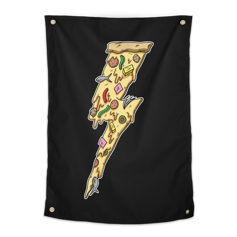 Pizza Bolt!  Home Tapestry by Humor Tees