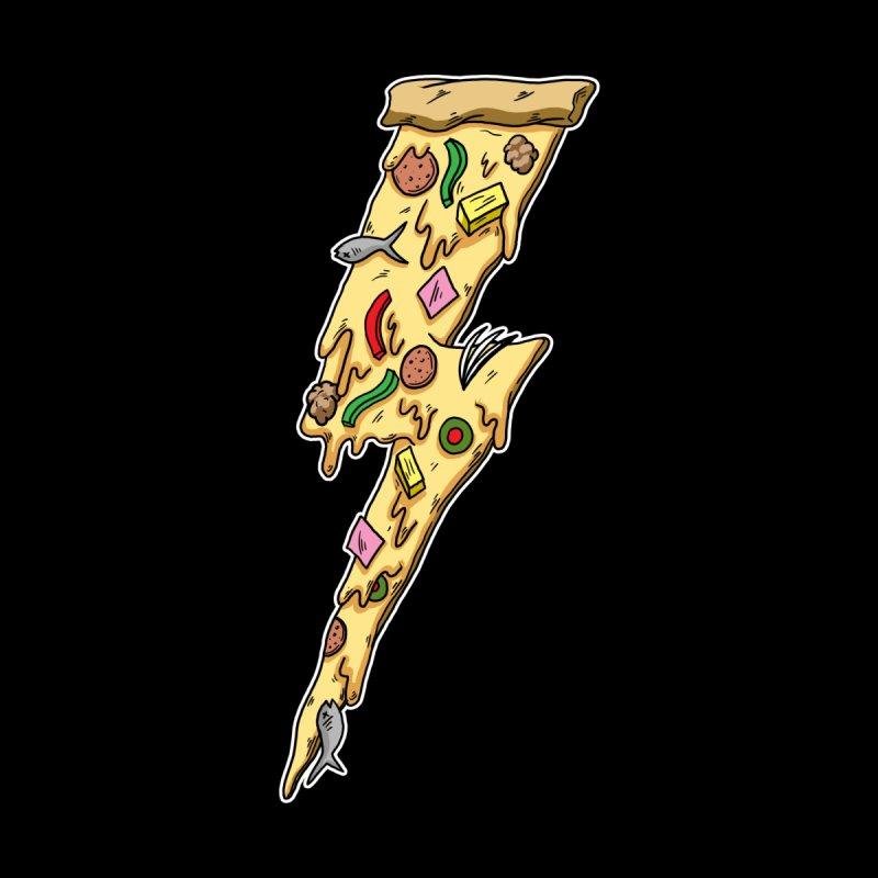 Pizza Bolt!  None  by Humor Tees
