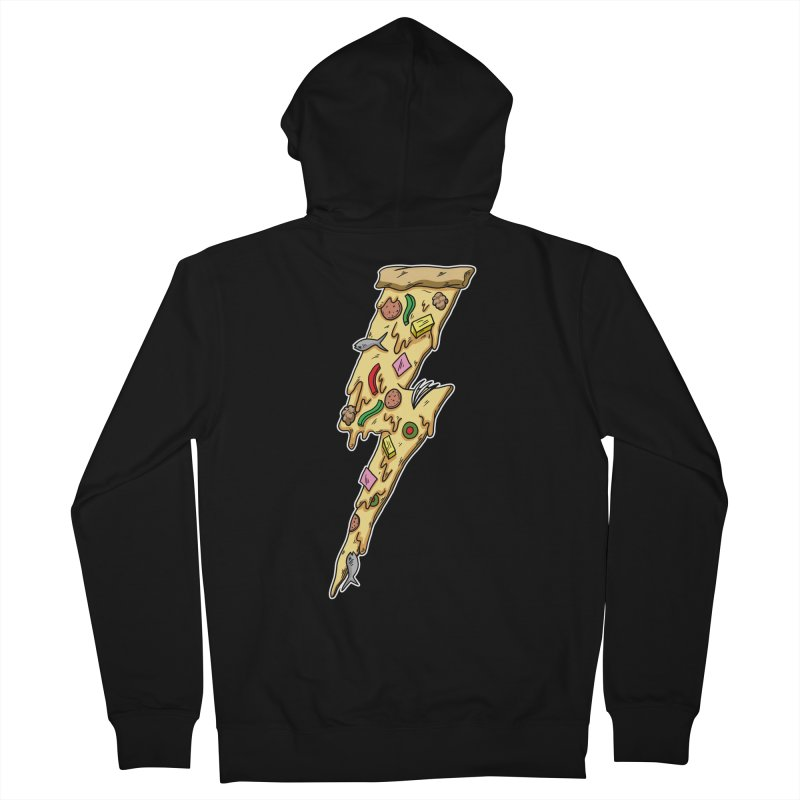 Pizza Bolt!  Women's Zip-Up Hoody by Humor Tees