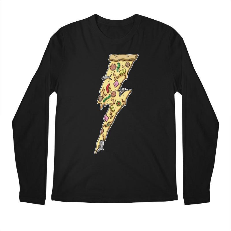 Pizza Bolt!  Men's Longsleeve T-Shirt by Humor Tees
