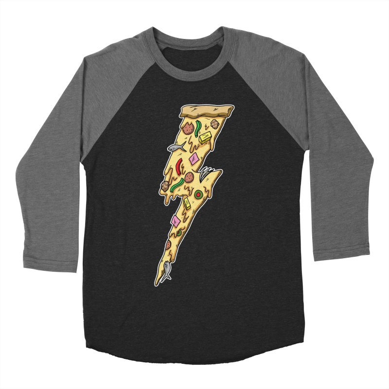 Pizza Bolt!  Men's Baseball Triblend T-Shirt by Humor Tees