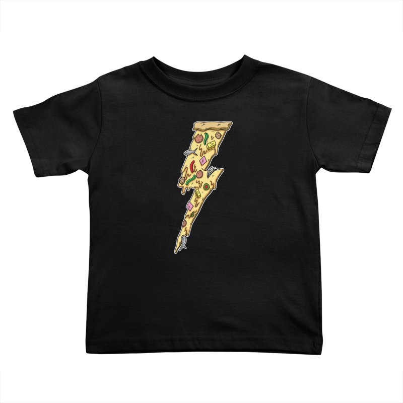 Pizza Bolt!  Kids Toddler T-Shirt by Humor Tees