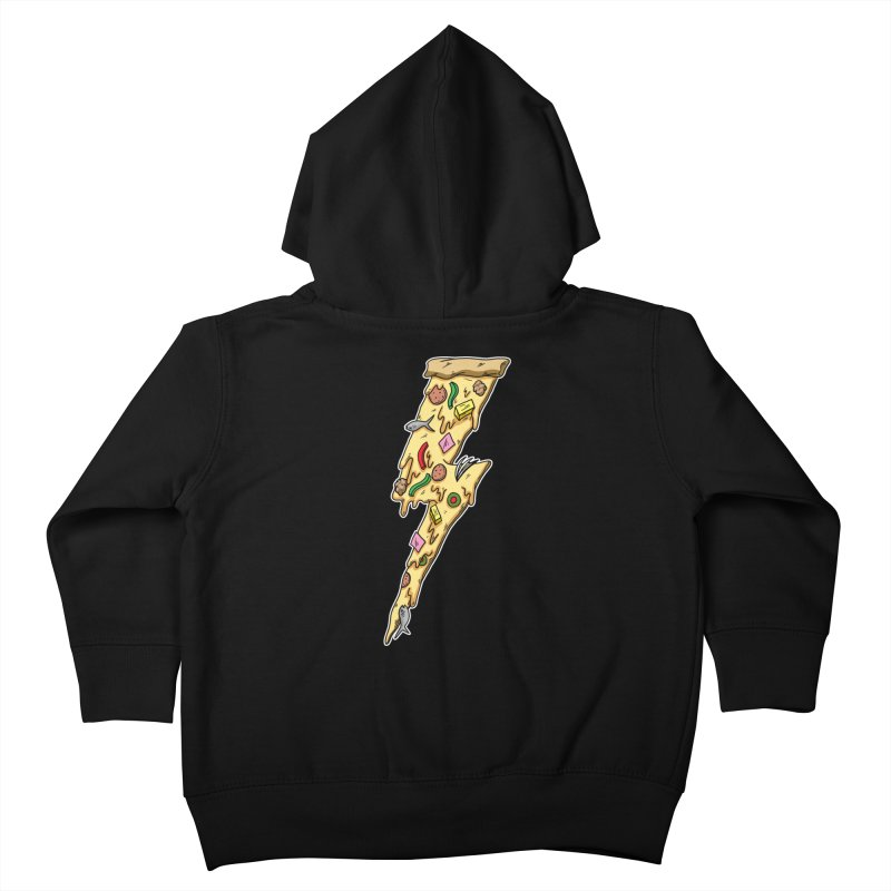 Pizza Bolt!  Kids Toddler Zip-Up Hoody by Humor Tees