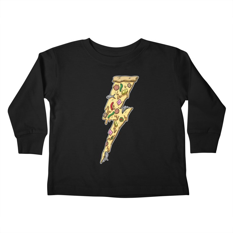 Pizza Bolt!  Kids Toddler Longsleeve T-Shirt by Humor Tees