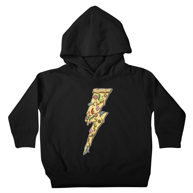 Pizza Bolt!  Kids Toddler Pullover Hoody by Humor Tees
